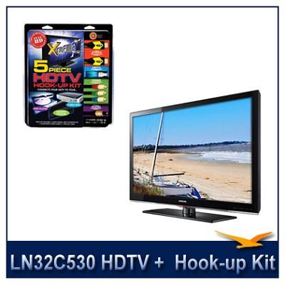 LN32C530 HDTV + High-performance HDTV Hook-up & Maintenance Kit