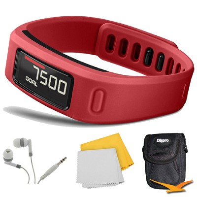 Vivofit Bluetooth Fitness Band (Red) (010-01225-08) Bundle
