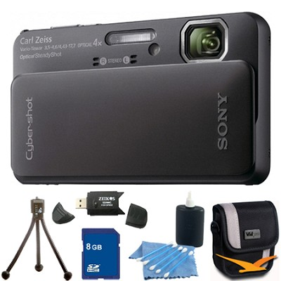 Cyber-shot DSC-TX10 Black Digital Camera 8GB Bundle