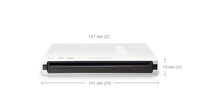 SE-T084M/RSWD TruDirect Slot-in External Slim LightScribe DVD Drive