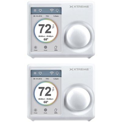 Connected Home 3.5` WiFi Touchscreen Smart Thermostat With Free Phone App 2 Pack