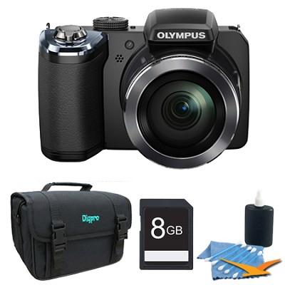 SP-820UZ 14 Megapixel 40x Zoom Digital Camera Black 8GB Bundle