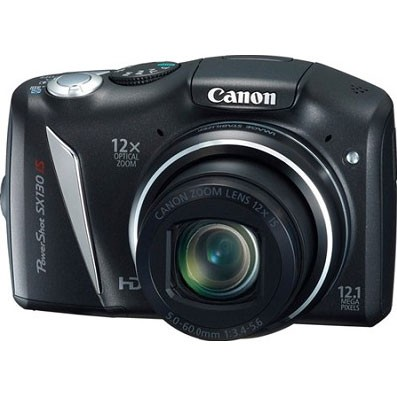 Powershot SX130 IS 12MP 12x Zoom Digital Camera w/ 720p HD Video - Refurbished