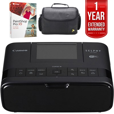 CP1300 Wireless Printer w/AirPrint Black + 1 Year Extended Warranty Bundle