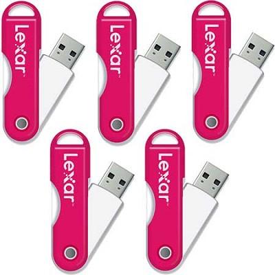JumpDrive TwistTurn 16GB High Speed USB Flash Drive (Pink) 5-Pack (80GB Total)