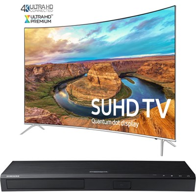 Curved 65` Smart SUHD LED TV- UN65KS8500+ Samsung UBDK8500 4K UHD Blu-Ray Player