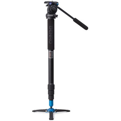 Video Monopod with Twist Lock Legs, S2 Head and 3 Leg Base (Black) - A38TBS2