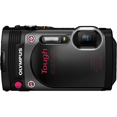 TG-870 Tough Waterproof 16MP Black Digital Camera w/ AF Lock/ 3` LCD - OPEN BOX