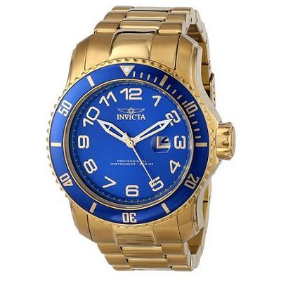 Men's Pro Diver 48.8mm Stainless Steel Gold Blue Dial PC32 Quartz 15347