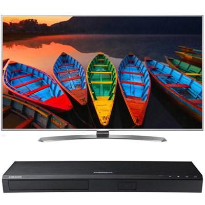 55-in Super UHD TV w/webOS 3.0- 55UH7700+ Samsung UBDK8500 4K UHD Blu-Ray Player