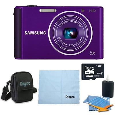 4 GB Bundle ST76 16 MP 5X Compact Digital Camera - Purple