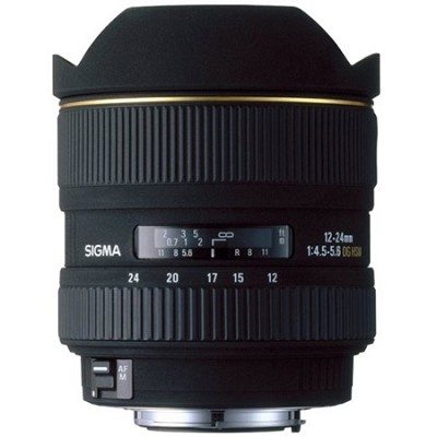 Ultra Wide Angle 12-24mm f/4.5-5.6 EX DG AF Canon Lens (Factory Refurbished)