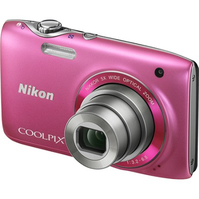 COOLPIX S3100 14MP 5x Zoom Pink Compact Digital Camera