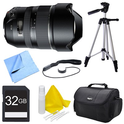 A012 SP 15-30mm F/2.8 Ultra-Wide Angle Zoom Di VC USD Lens for Sony Bundle