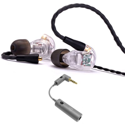 UM Pro 30 High Performance In-ear Headphone Clear - 78516  w/ iFi Audio iEMATCH