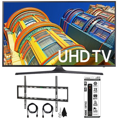 UN70KU6300 - 70` Class KU6300 6-Series 4K Ultra HD TV Flat Wall Mount Bundle