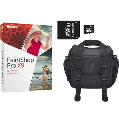 Corel Paint Shop Pro X7 + 16GB SDHC Card + SLR Gadget Bag