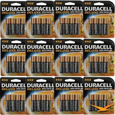 AA Alkaline Batteries 4 Pack Retail Package - 12 Pack Bundle 48 Total Batteries