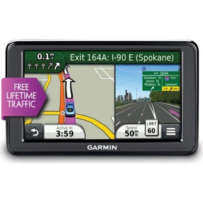nuvi 2555LT 5.0` GPS Navigation System with Lifetime Traffic Updates