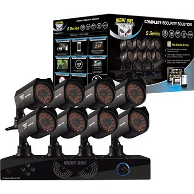 16-Channel Complete Security Solution with 1TB Hard Drive/HDMI/8 Cameras