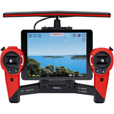 Skycontroller for Bebop Quadcopter Drone - Battery Included (Red)