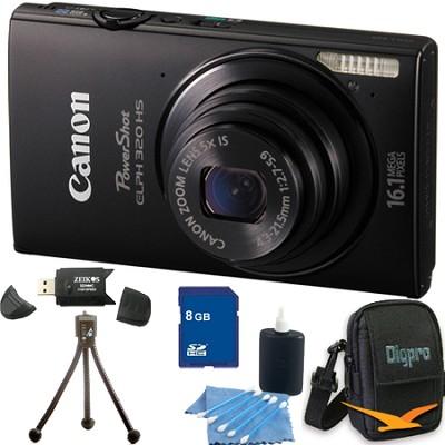 PowerShot ELPH 320 HS 16MP Black Digital Camera 8GB Bundle