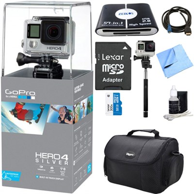 HERO 4 Silver Action Camera Ultimate Kit