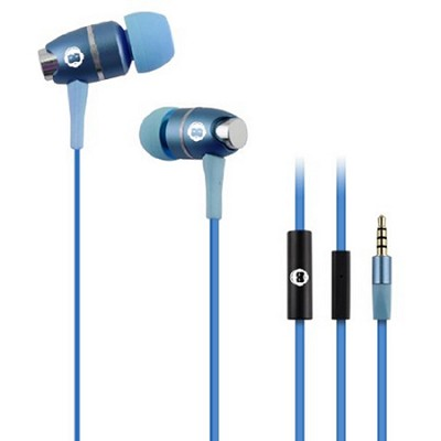 In-Ear Headphones with Mic - Blue