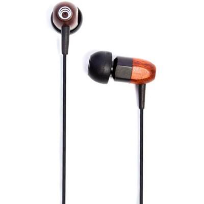 ts02 - 8mm Noise Isolating Wooden Headphone Black/Chocolate (ts02-blkchoc)