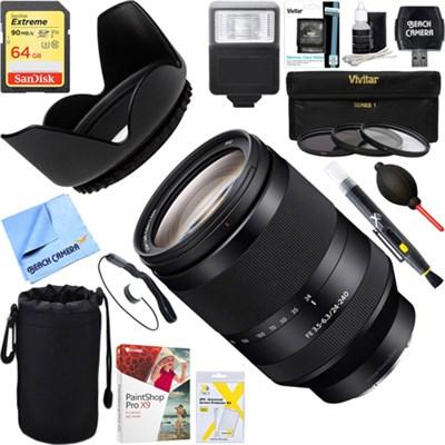 FE 24-240mm F3.5-6.3 OSS Full-frame Telephoto Zoom Lens + 64GB Ultimate Kit