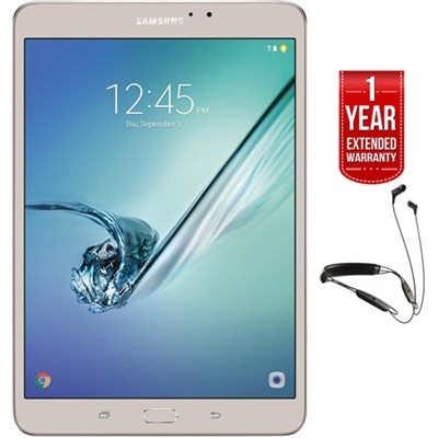 Galaxy Tab S2 8` Wi-Fi Tablet Gold/32GB + R6 Earbuds + Extended Warranty