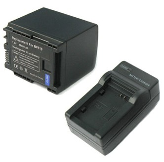 BP-819 Lithium Ion Battery Pack & Charger for Canon HF & HG Series Camcorders