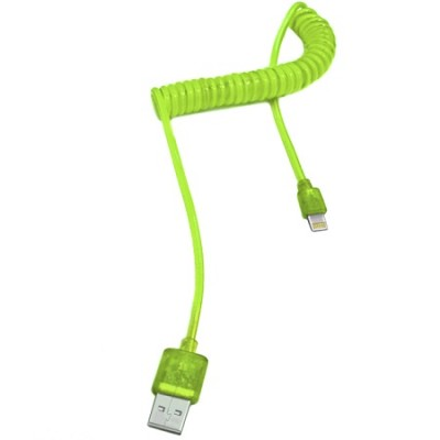 iPhone 5/6 USB Sync & Charge Lightning Cable with LED Light - Green