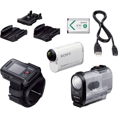 HDR-AS200VR/W Action Cam Kit with Live View Remote - OPEN BOX