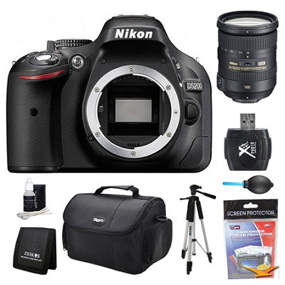 D5200 DX-Format Digital SLR Camera Body 18-200mm Lens Kit