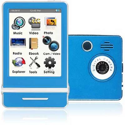 E4 Series - 3` Touch Screen MP3 Video Players 8GB w/ Digital Camera (Blue)