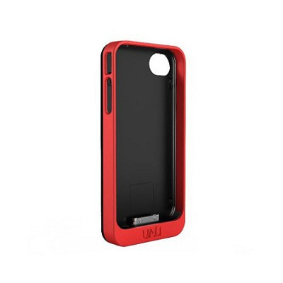 Exera Modular Detachable Battery Case for iPhone 4S 4 - Black/Red