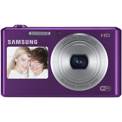 DV150F Dual-View 16.2 MP Smart Camera with Built-in Wi-Fi - Plum - OPEN BOX