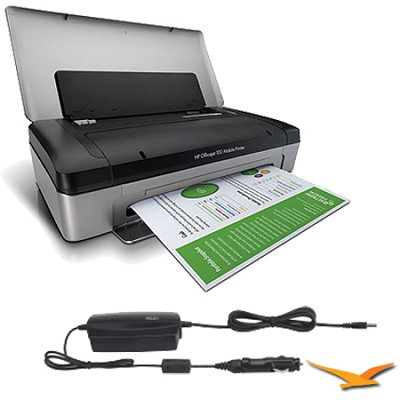 Officejet 100 Mobile Printer with Mobile Car Adapter
