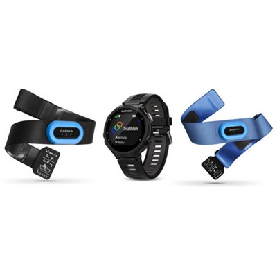 Forerunner 735XT GPS Running Watch Tri-Bundle - Black/Gray (010-01614-03)