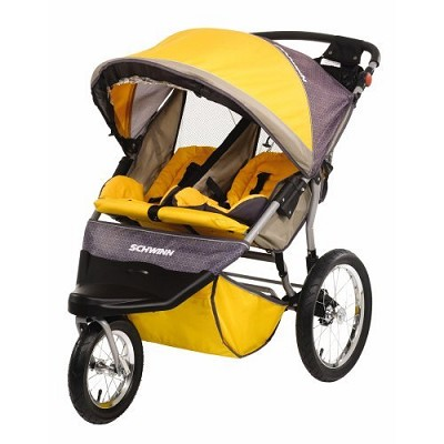 Free Wheeler ST Double Jogging Stroller (Gold Gray)