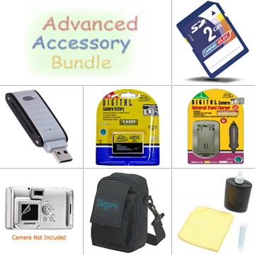 Platinum Accessory Bundle for Casio Exilim EX-S500, S600, Z60, Z70, Z75, Z77
