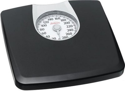 Health o Meter SAB602DQ-05 Dial Scale, Black with Silver Accent