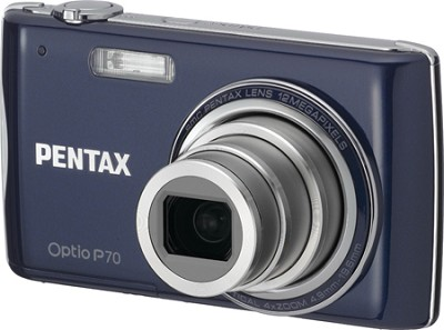Optio P70 2.7` LCD, 12 MP, 4x Optical Zoom Digital Camera (Dark Blue)