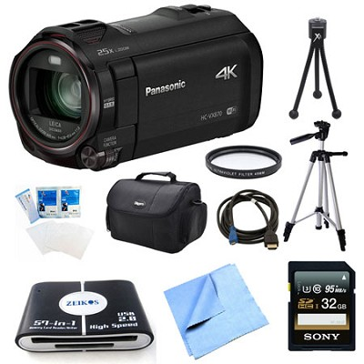 HC-VX870K 4K Ultra HD Camcorder 32GB Bundle