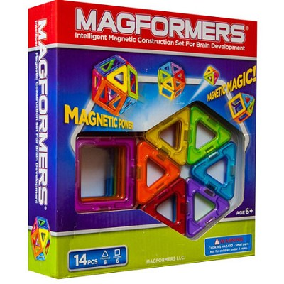 63069 Rainbow 14pc Magnetic Construction Set