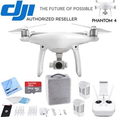 Phantom 4 Quadcopter Drone Lexar High Speed 4K microSD Bundle