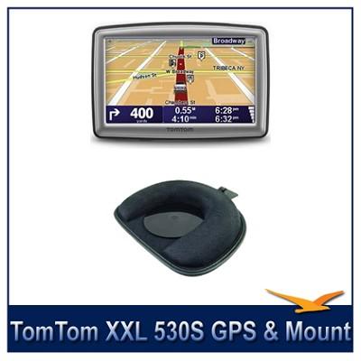 XXL 530S 5 inch TouchScreen Auto Nav Portable GPS Navigator + Dashboard Mount