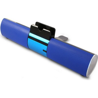 Concept Blue Bluetooth Speaker Bar with Dock For Smartphone or Tablet