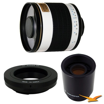 ED500M - 500mm f/6.3 Multi-Coated ED Mirror Lens for Canon EOS w/ 2x Multiplier